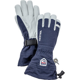 Hestra Army Leather Heli Ski 5 Finger Gloves Navy